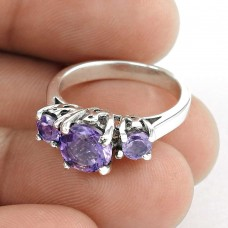 Well-Favoured Amethyst Gemstone 925 Sterling Silver Ring