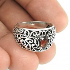 High Work Quality! Garnet 925 Sterling Silver Ring