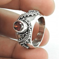 Royal Style!! Garnet 925 Sterling Silver Ring