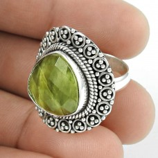 Large!! Vessonite 925 Sterling Silver Ring