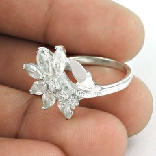 Pleasant CZ Sterling Silver Ring