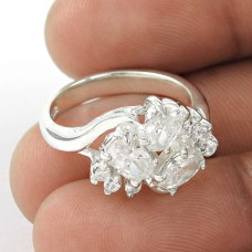 Exclusice White C.Z Sterling Silver Ring