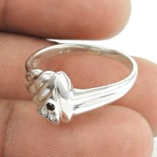 Fabulous ! Multi CZ Gemstone 925 Sterling Silver Ring