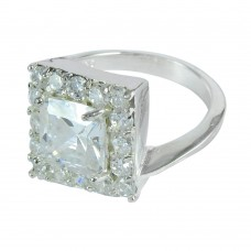 Passionate Love !! White C.Z 925 Sterling Silver Ring Manufacturer