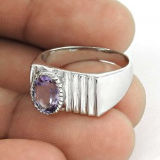 Bloom Fashion ! Amethyst Gemstone 925 Sterling Silver Ring