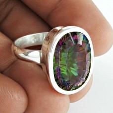 Misty Morning ! Mystic Topaz Gemstone 925 Sterling Silver Ring