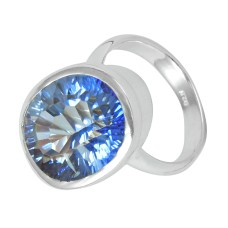 2018 New Design !! Blue Mystic Topaz Gemstone 925 Sterling Silver Ring