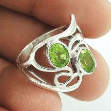 New Style ! Peridot Gemstone Silver Ring Jewellery