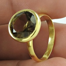 Stunning Rich Smoky Quartz Gemstone Sterling Silver Ring Jewellery