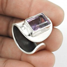 Blooming Garden! 925 Sterling Silver Amethyst Ring