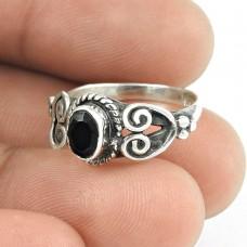 Exporter Black Onyx Gemstone 925 Sterling Silver Ring