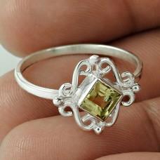 Favorite !! Citrine Gemstone 925 Sterling Silver Ring