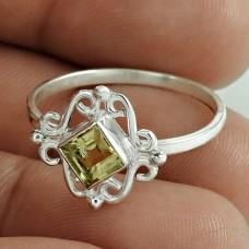 Graceful !! Citrine Gemstone 925 Sterling Silver Ring
