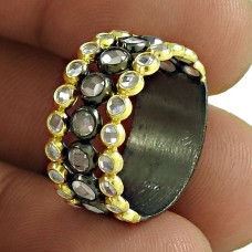A Secret !! Gold Plated 925 Sterling Silver White CZ Ring Wholesale