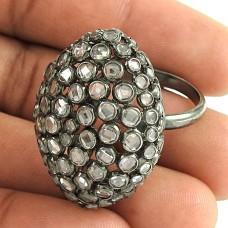 Big Falling In Love !! 925 Sterling Silver White CZ Ring Großhändler