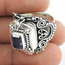 Seductive ! Amethyst Gemstone Silver Ring Jewellery Lieferant