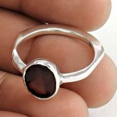 Royal !! 925 Sterling Silver Garnet Ring