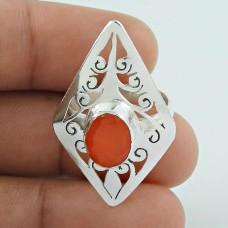 Secret!! 925 Sterling Silver Carnelian Ring
