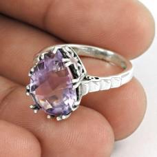 Beauty in Queen!! 925 Sterling Silver Amethyst Ring