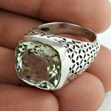 Fantastic!! Green Amethyst 925 Sterling Silver Ring