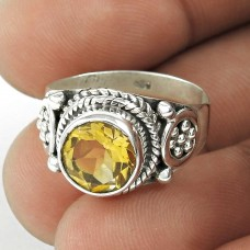 Classy Design! Citrine 925 Sterling Silver Ring