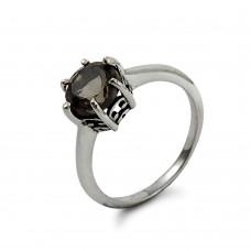 Attractive ! Smoky Quartz Gemstone Silver Ring Jewellery