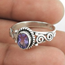 Best Quality!! 925 Sterling Silver Amethyst Ring