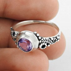 Classy Style!! 925 Sterling Silver Amethyst Ring