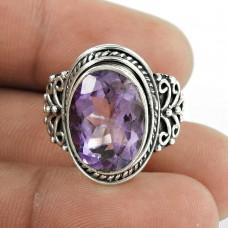 Kiss !! 925 Sterling Silver Amethyst Ring