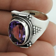 Briliance ! 925 Sterling Silver Amethyst Ring Supplier India