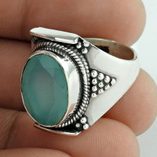 Fashion Design ! 925 Sterling Silver Chalcedony Ring