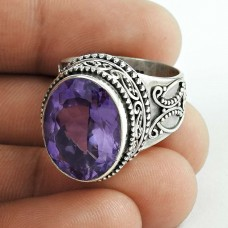 Great Creation ! 925 Sterling Silver Amethyst Ring Manufacturer India
