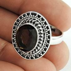 Exclusive ! 925 Sterling Silver Smoky Quartz Ring Al por mayor