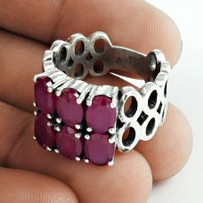 Classy!! 925 Sterling Silver Ruby Ring