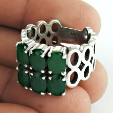 Lavender Dreams!! 925 Sterling Silver Green Onyx Ring