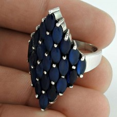 Delicate Light!! 925 Sterling Silver IOLITE Ring