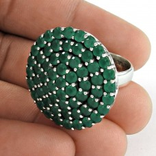 Awesome!! 925 Sterling Silver Green Onyx Ring