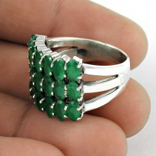 Good Fortune!! 925 Sterling Silver Green Onyx Ring