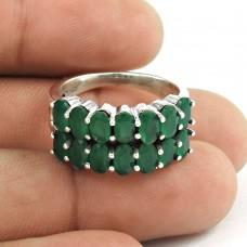 Interesting!! 925 Sterling Silver Green Onyx Ring