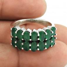Intrigant!! 925 Sterling Silver Green Onyx Ring
