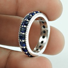 Draditions!! 925 Sterling Silver Iolite Ring