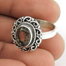 Fine !! 925 Sterling Silver Smoky Quartz Ring De gros