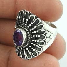 Royal Style !! 925 Sterling Silver Amethyst Ring