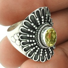 New Design !! 925 Sterling Silver Citrine Ring