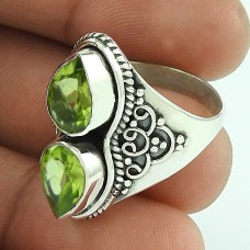 Stunning!! 925 Sterling Silver Peridot Ring