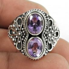 Big Secret Created!! 925 Sterling Silver Amethyst Ring