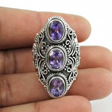 2018 Fashion ! 925 Sterling Silver Amethyst Ring