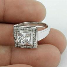 Big Falling In Love !! 925 Sterling Silver White CZ Ring