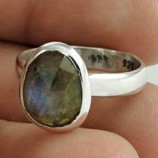 Scrumptious ! Labradorite Gemstone Silver Ring Jewellery