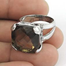Beloved ! Smoky Quartz Gemstone Silver Jewellery Ring